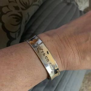 Tiffany square bangle bracelet